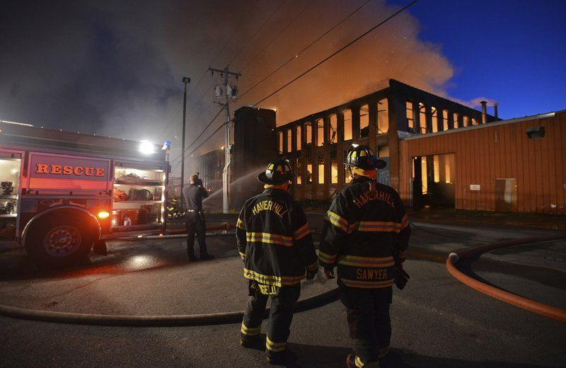Eight-alarm fire ravages Haverhill mill building