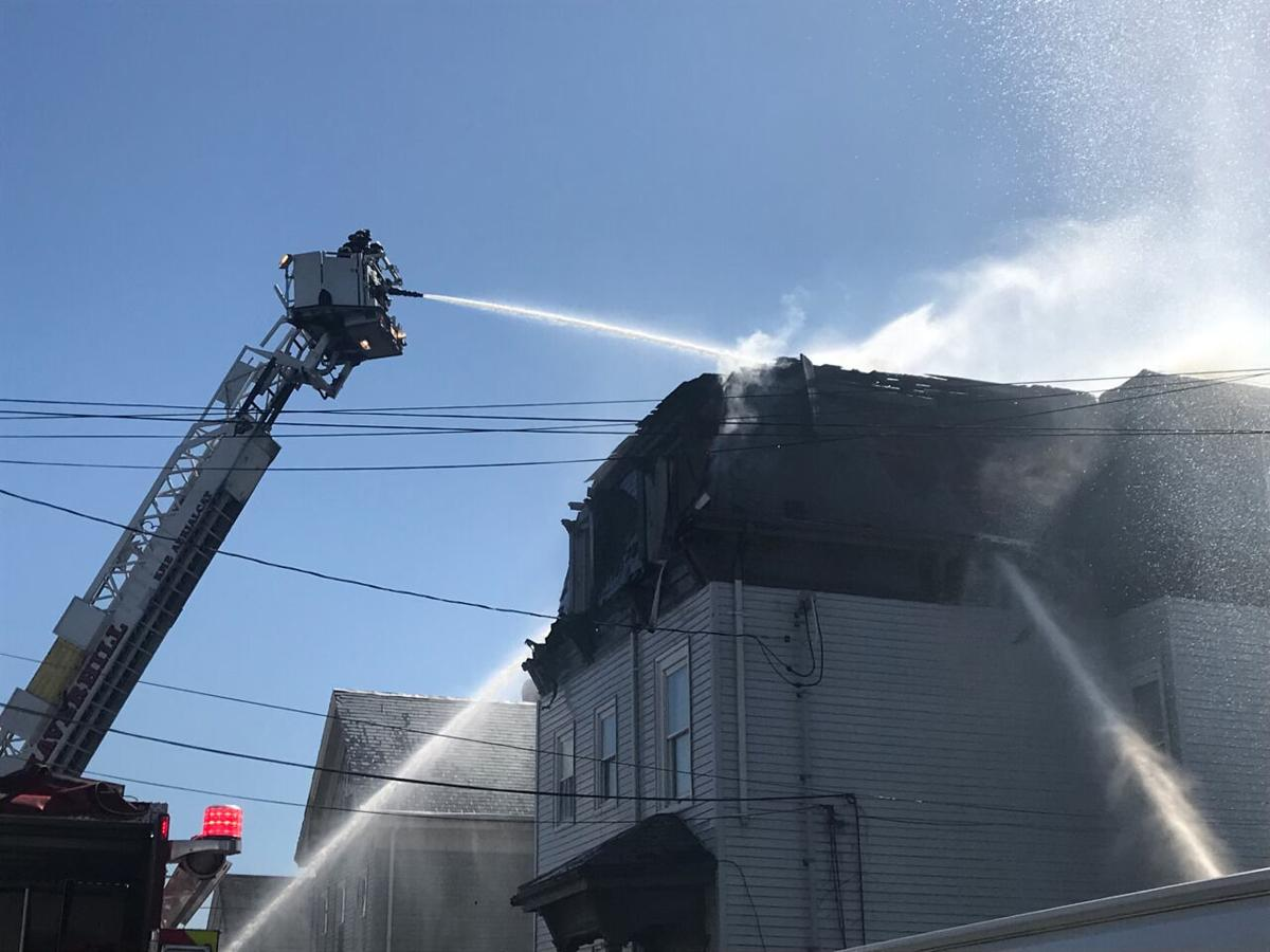 A home on Jackson Street in Haverhill caught fire on Monday