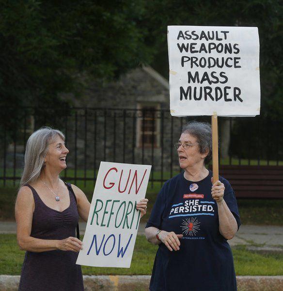 Andover vigil protests gun massacres, bigotry
