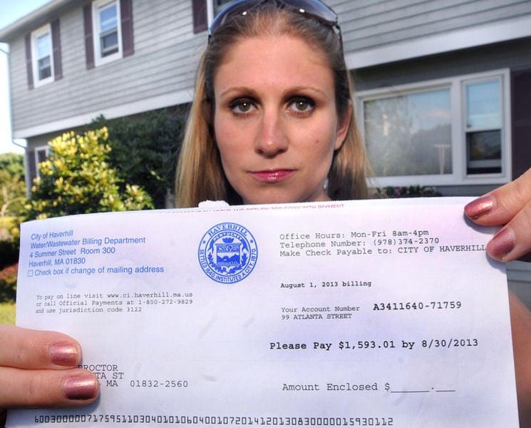 Woman shocked by $1,593 water bill | Local News | eagletribune com