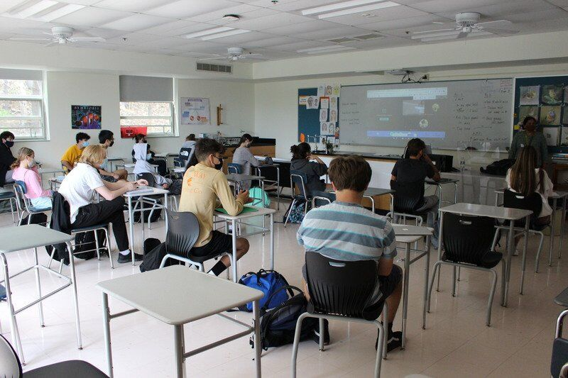 Andover High welcomes students back full time