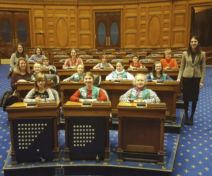 North Andover Girl Scout troop visits the Statehouse
