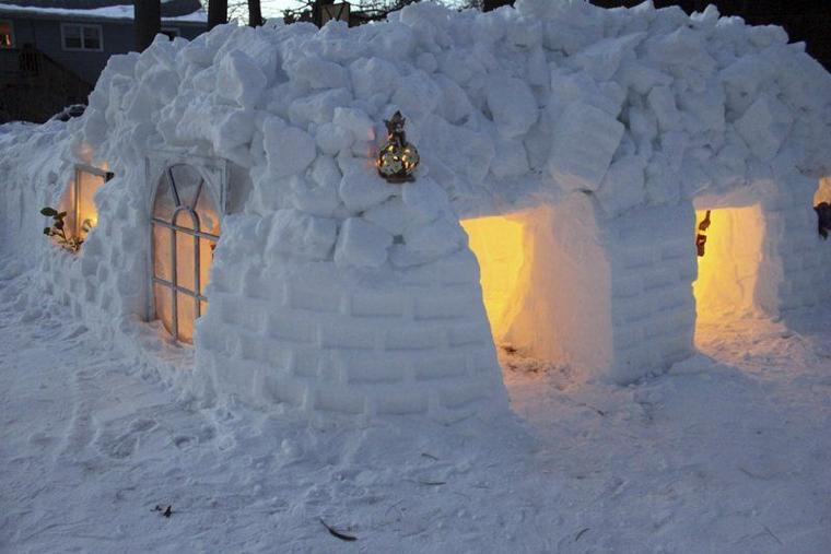 Salem Snow Fort Video Starts To Go Viral Eagle Tribune