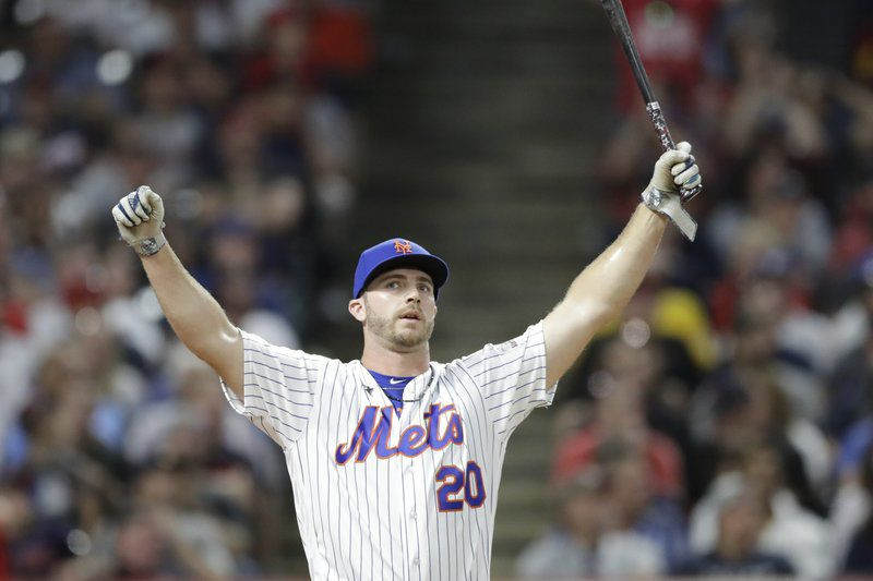 Mets' Alonso outlasts fellow rookie Vlad Jr to win HR Derby