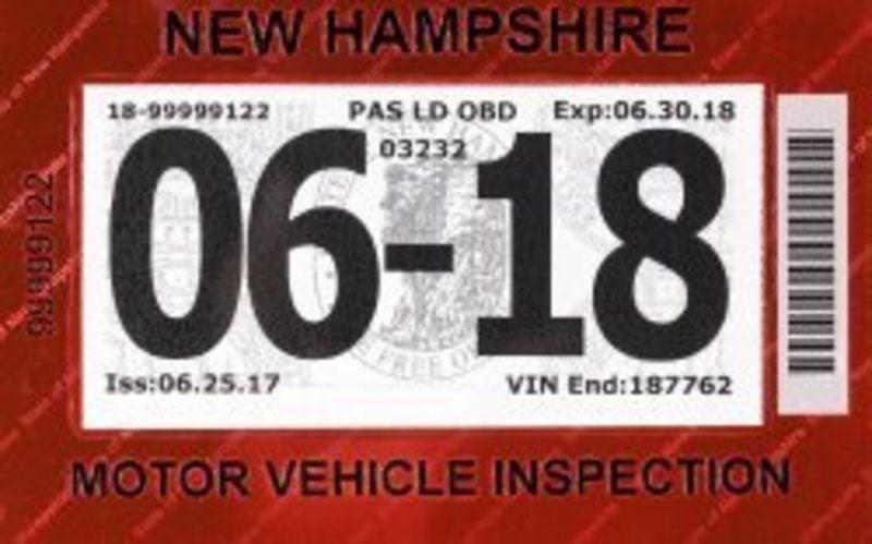 Inspection Sticker Makeover New Hampshire Eagletribune Com