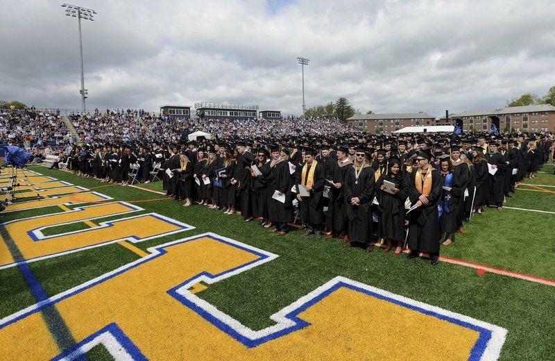 Merrimack College Holds First Outdoor Graduation Ceremony In New Football Stadium Merrimack Valley Eagletribune Com
