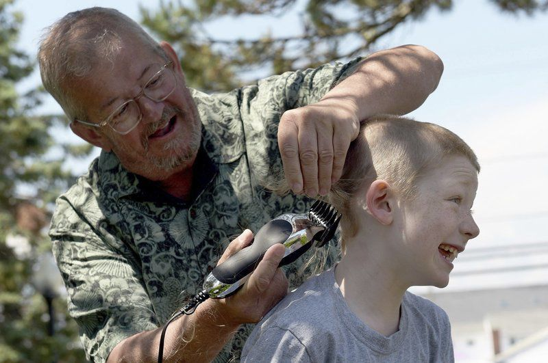 Haverhill boy gets hair cut to fight colon cancer