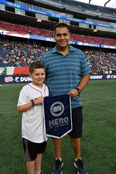 Sports in a Minute: Local 'hero' honored at Revs game