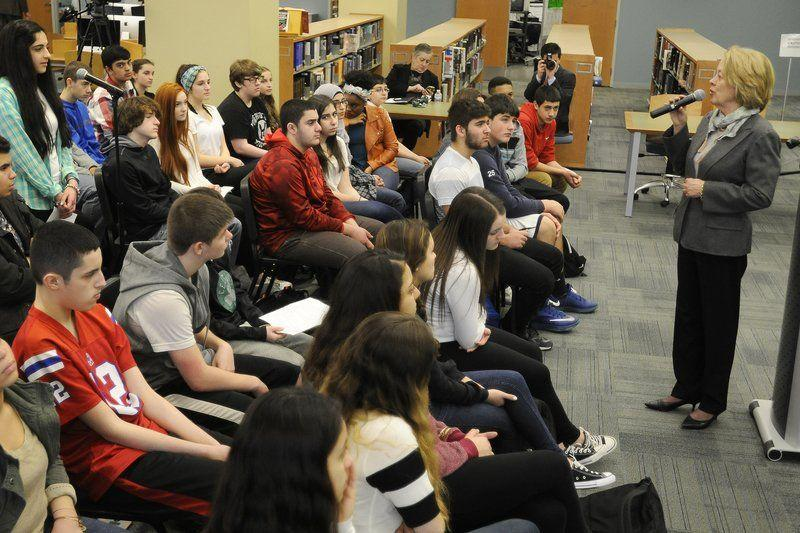 Tsongas faces questions -- from high school freshmen