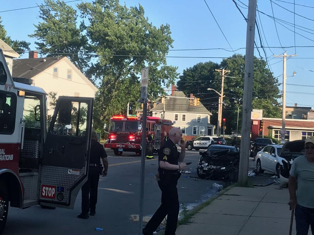 Two car crash on Parker Street in Lawrence