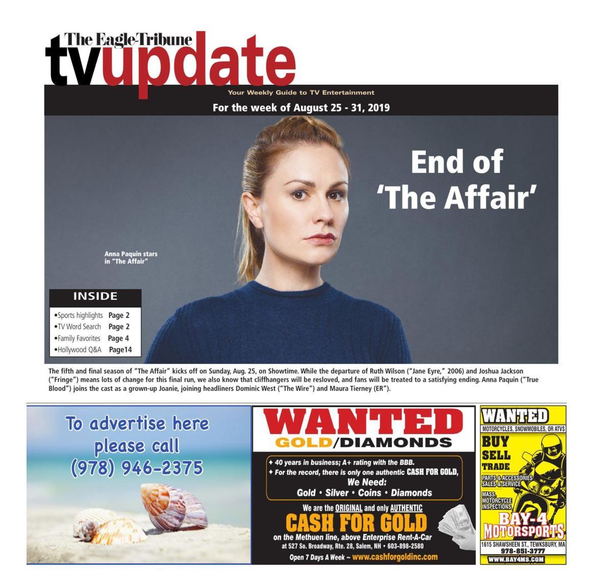 TV Update: August 25-31