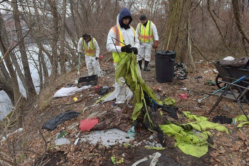 Cleaning Haverhill's riverbanks