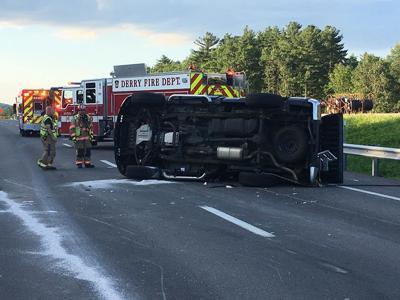 Rollover crash in Windham snarls rush hour traffic   New