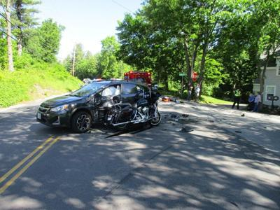 Route 28 crash in Windham leaves motorcyclist seriously injured