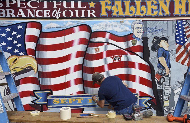 9/11 mural gets fresh paint
