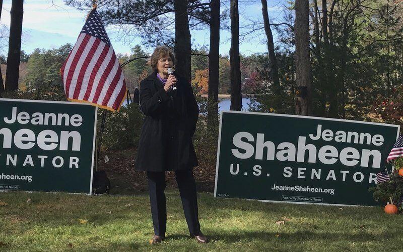 Klobuchar campaigns for Shaheen in Salem