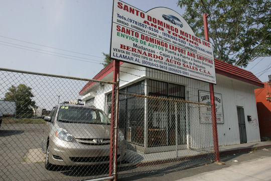 Santo Domingo Motors on Broadway in Lawrence was involved in a swap of city-owned vehicles.