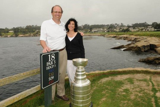 Perocchi and wife at Pebble
