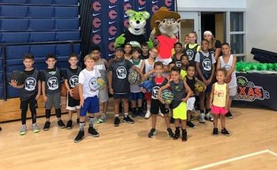 Youth Basketball League gets a visit