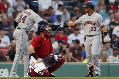 Astos hit Eovaldi hard, Sox drop second straight