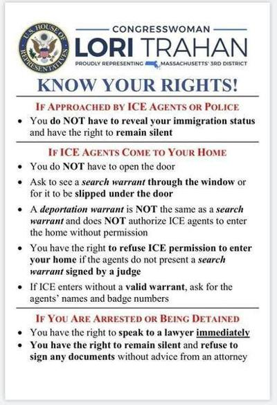 Trahan blasted for post on ICE raids