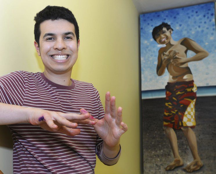Art & independence; Young Andover man with autism finds focus through creative pursuit
