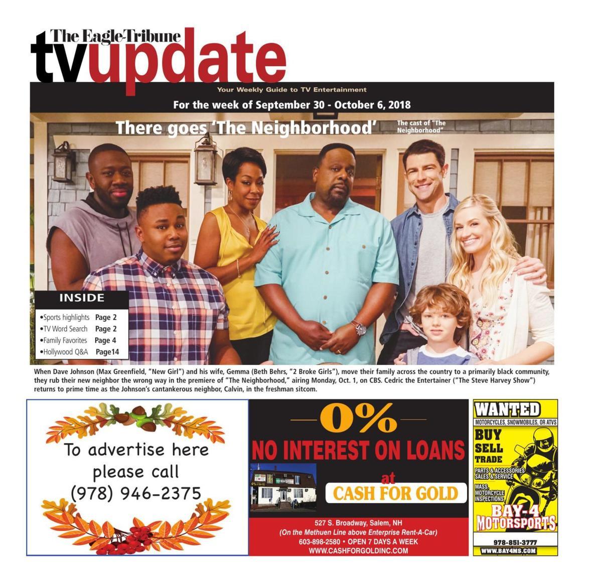 TV Update: Sept. 30 - Oct. 6