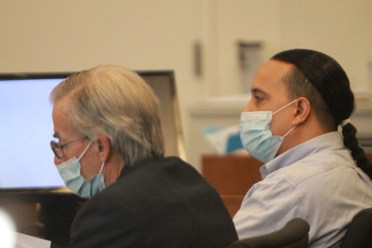 "Carlos Manuel ""Chin"" Rivera at his trial in Salem Superior Court"