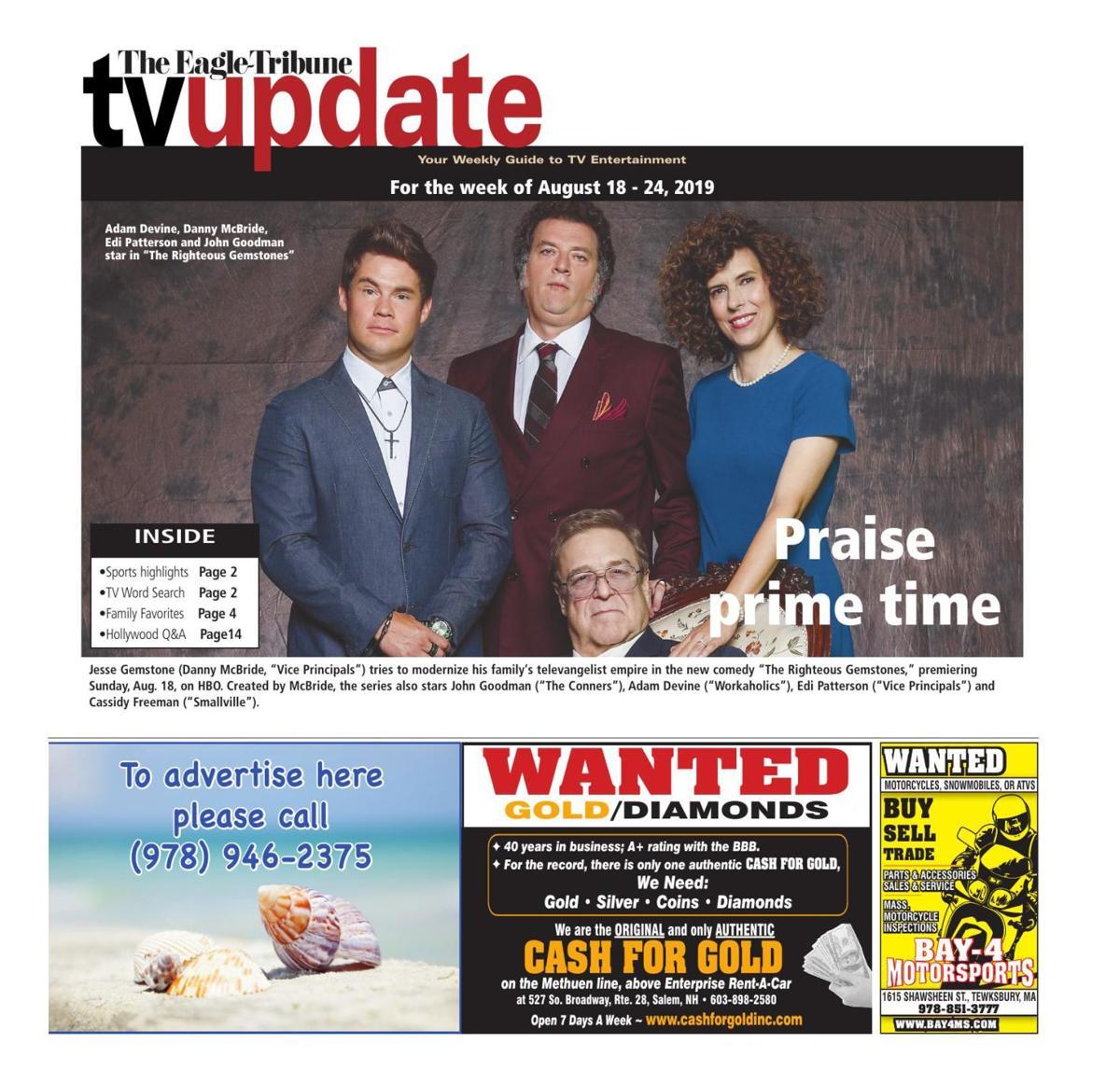 TV update: Aug. 18-24