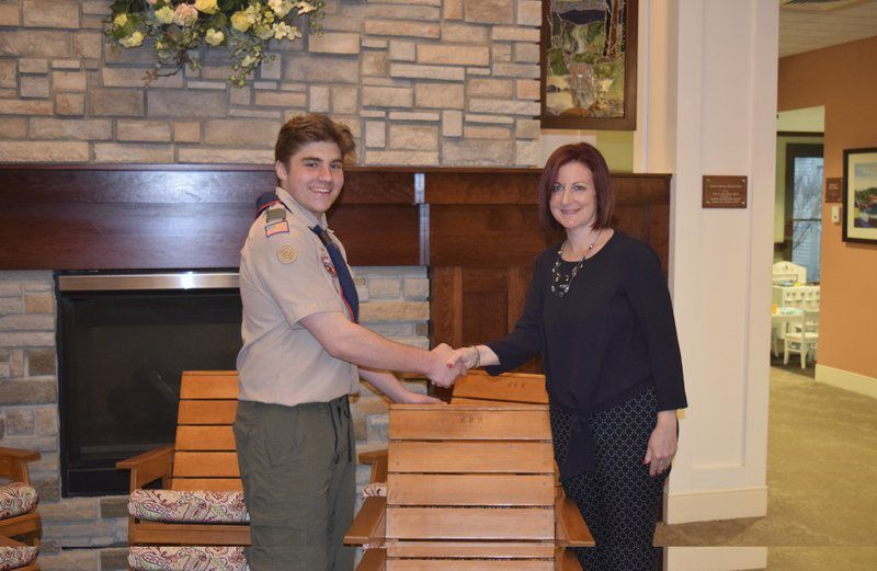 Scout's Eagle project benefits High Pointe House