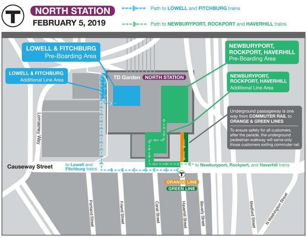 North Station staging map