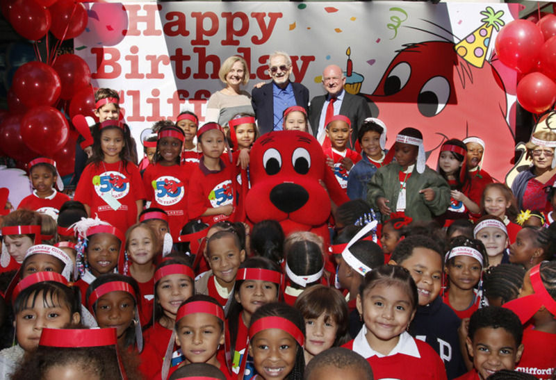 """He wrote and illustrated the series of """"Clifford the Big Red Dog""""."""