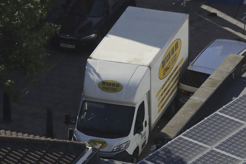 8be175ed2c856d Attack on London Muslims suggests new polarization. AP photosA van is seen  near Finsbury Park ...