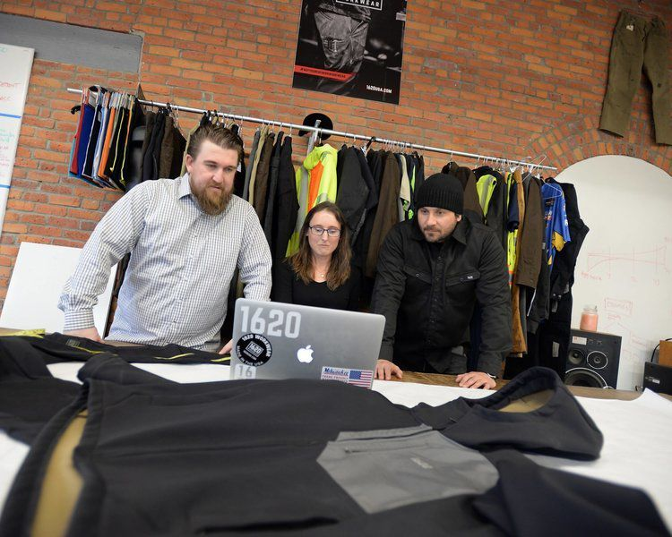 Work clothing designed downtown and made only in the USA