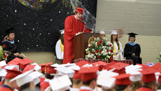 Science And Technology Essay Above A Sea Of Red And White Hats Masco High School Senior Vincent Liberto  Reads His Essay Entitled Standup During Their Graduation Ceremonies On  Friday  Learn English Essay also Science Fiction Essay Masco Grads Urged To Live Life To The Fullest  Local News  How To Write An Essay In High School