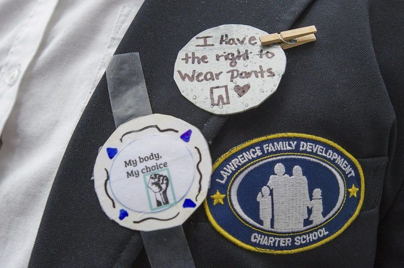 Students protest dress code at charter school