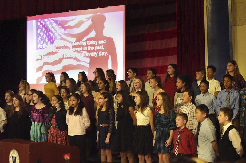 Woodbury students honormilitary service