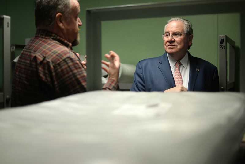 At Pegasus House and Daybreak Shelter, DeLeo hears plea for aid