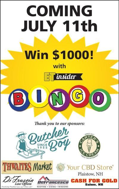 Look inside today's Sunday Eagle-Tribune to play bingo with us
