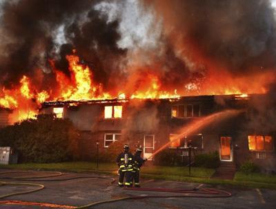 Lawrence apartment burns
