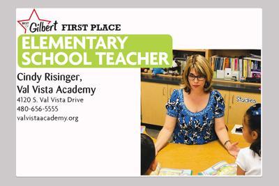 Cindy Risinger, Val Vista Academy 4120 S. Val Vista Drive