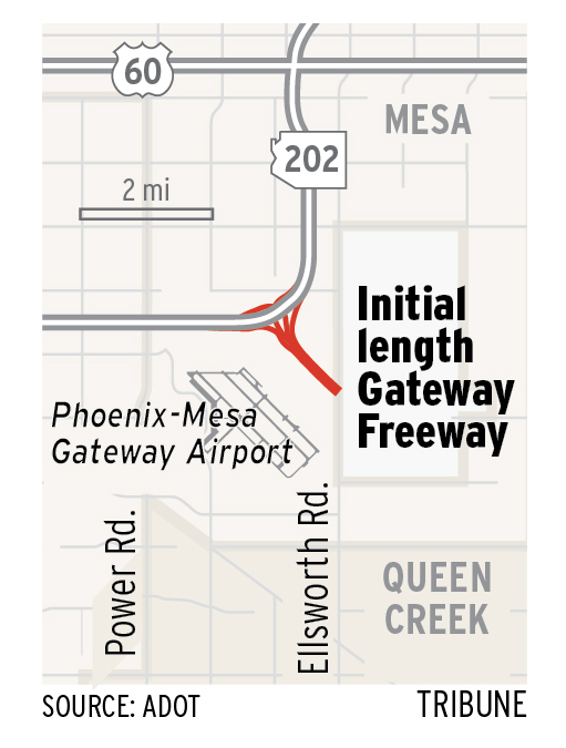 Mesas new freeway is short but offers big potential East