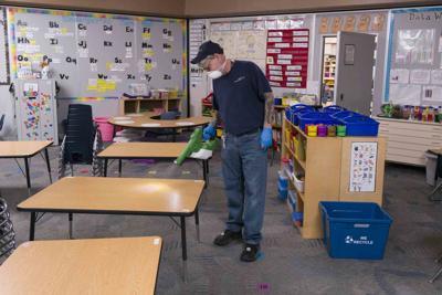 Robert Truman deep-cleaned Kyrene de la Mirada School in Chandler