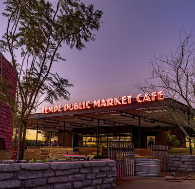 Tempe Public Market Café has opened on the northeast corner of Warner and Rural roads in Tempe, reurposing a long-standing Circle K site. The concept has been a hit for Chef Aaron Chamberlin in downtown Phoenix since 2012.