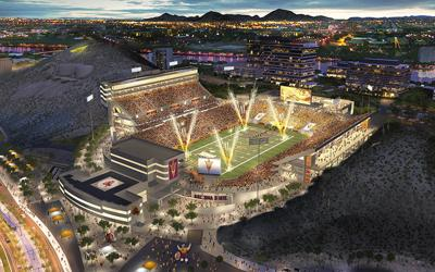 A rendering of the new ASU Sun Devil Stadium.