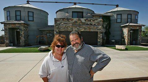 Gilbert couple turn grain silos into home