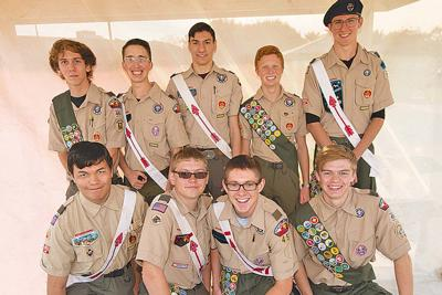 The new Eagle scouts
