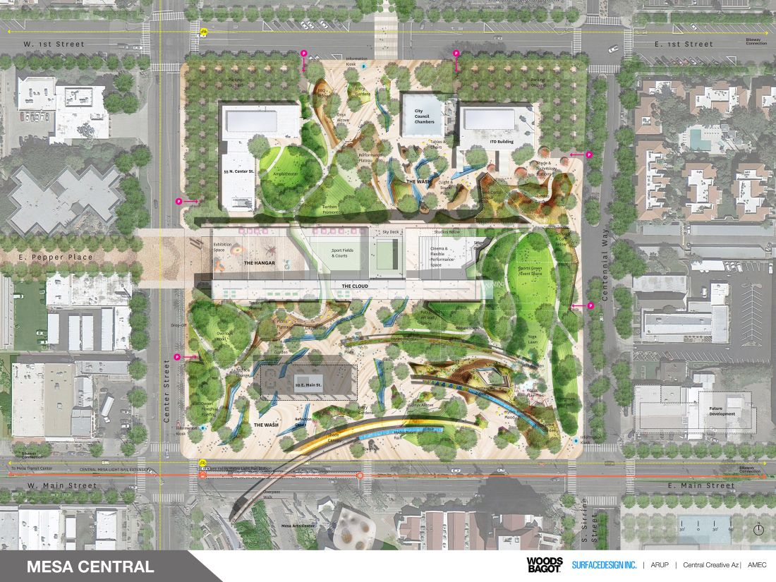 Final concepts selected for downtown mesa redesign mesa for Master of landscape architecture adelaide university