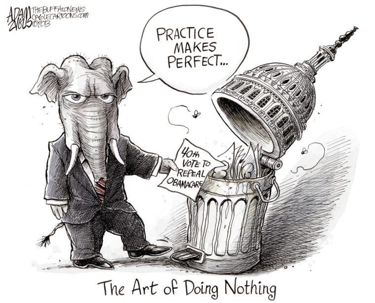 Editorial Cartoon: Do Nothing GOP