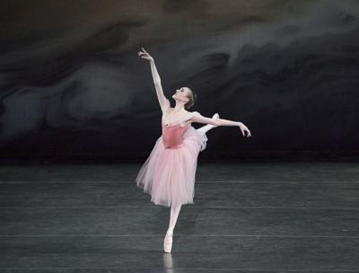 Gabriella Domini performs the principal female role in George Balanchine's Scotch Symphony in early June at the School of American Ballet's 2017 Workshop Performances.